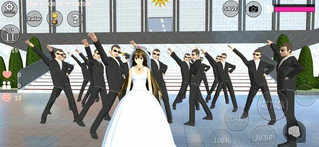 樱花学园校园模拟器结婚做饭汉化版下载图1