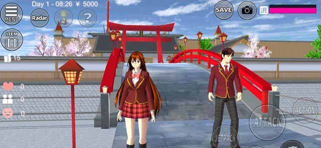 樱花学园校园模拟器结婚做饭汉化版下载图0