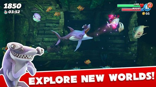 饥饿鲨世界2.7.2全道具解锁无敌版下载图3