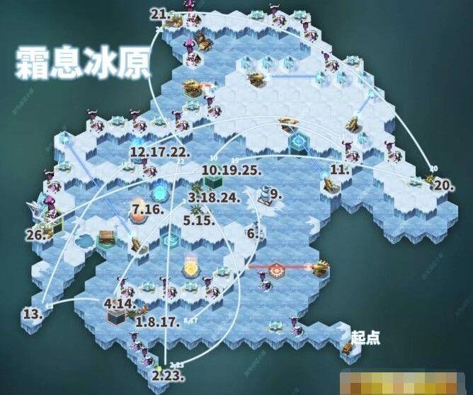 剑与远征霜息冰原隐藏宝箱在哪?霜息冰原隐藏宝箱位置及路线分析[多图]