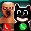 可怕的卡通猫和婴儿电话游戏app