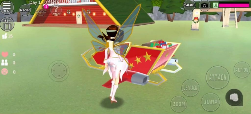 樱花校园模拟器1.038.01圣诞节版本追风汉化中文版图4