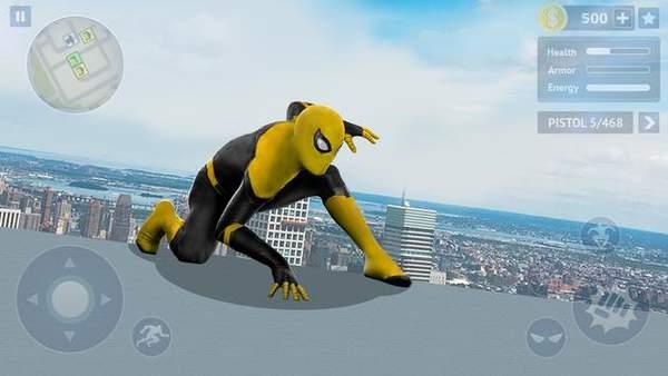 黄色蜘蛛英雄无限金币内购破解版图3