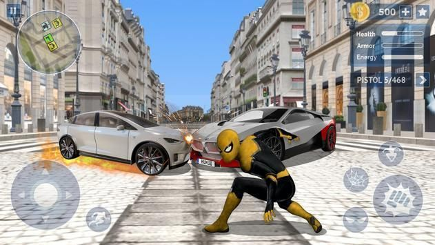黄色蜘蛛英雄无限金币内购破解版图2